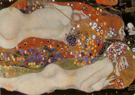 Klimt, Gustav: Water Serpents II. Fine Art Print/Poster. Sizes: A4/A3/A2/A1 (003659)